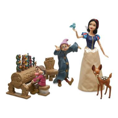 Набор Кукла Белоснежка 30 см танцующая с гномами