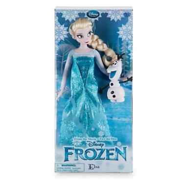 Кукла Эльза Холодное сердце с Олафом Disney Store