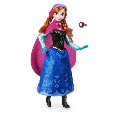 Кукла Анна Холодное сердце шарнирная с кольцом Disney Store 2018