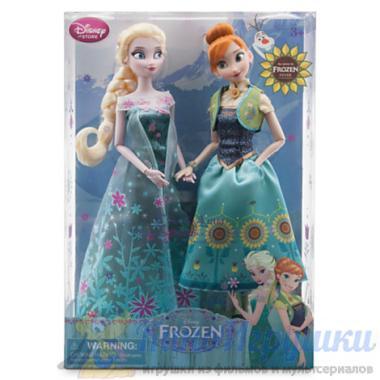 Куклы Анна и Эльза набор Ледяная лихорадка Холодное сердце 31 см