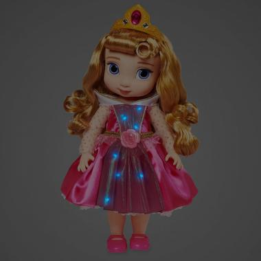 Кукла Принцесса Аврора в детстве со светящимся платьем