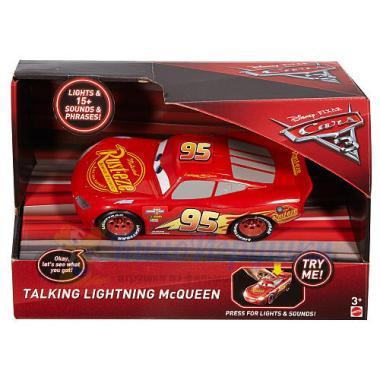 Говорящая машинка Молния МакКуин 1:21 свет-звук Тачки 3 Mattel