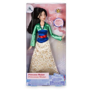 Кукла Принцесса Мулан шарнирная 30 см с кольцом Disney Store