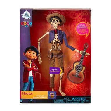 Поющая кукла Гектор 28 см Тайна Коко набор с гитарой Disney Store