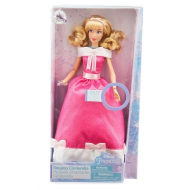 Поющая кукла Золушка в розовом платье Disney
