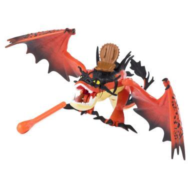 Игрушка Дракон Кривоклык стреляющий с фигуркой Сморкалы