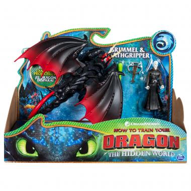 Игрушка Дракон Смертохват стреляющий и Гриммель