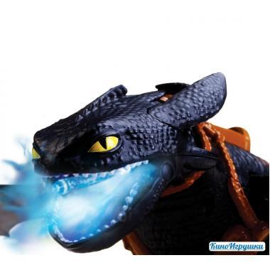 Игрушка большой дракон Беззубик дышащий огненной плазмой