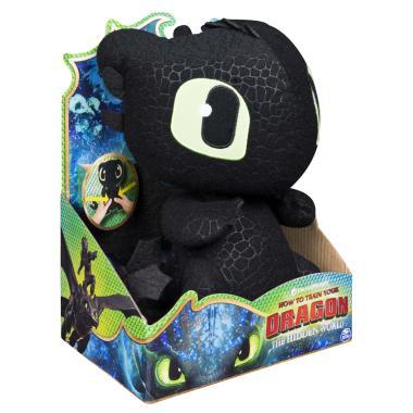Мягкая игрушка дракон Беззубик Ночная фурия со звуком
