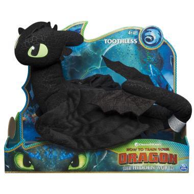 Мягкая игрушка Дракон Беззубик ДэЛюкс 35 см Spin Master