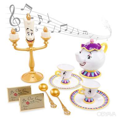 Детский чайный набор Красавица и Чудовище Дисней поющий