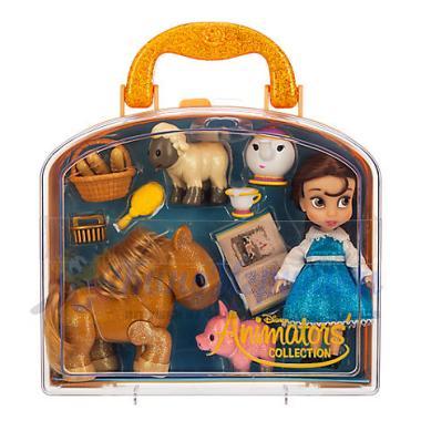 Игровой набор Мини кукла Белль в чемоданчике Дисней Аниматор