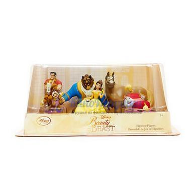 Набор фигурок Красавица и Чудовище 6 персонажей Disney Store