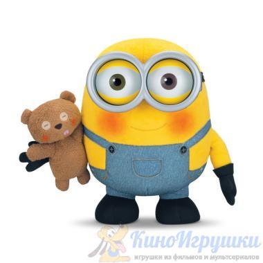 Плюшевый Миньон Боб с Мишкой 22 см Интерактивный Миньоны 2015