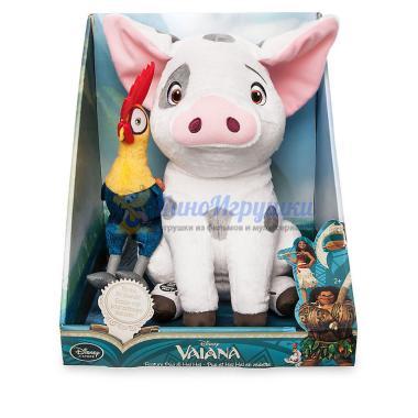 Набор Говорящий плюшевый Пуа с Хейхей Moana Disney Store 31 см