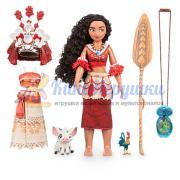 Поющая Кукла Моана 28 см набор ДеЛюкс Disney Store 2016 из США